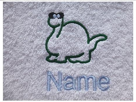 Toalla de baño diseño de dinosaurio Logo y nombre de cada tu elección, 100 x