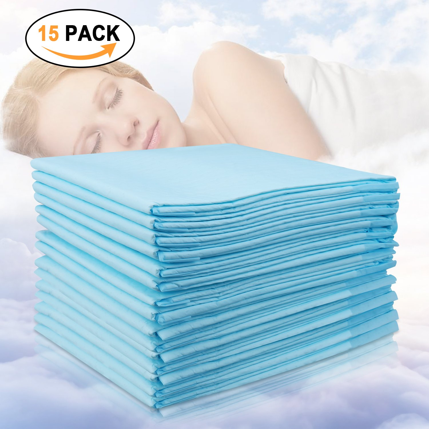 Disposable Large Changing Pads, High Absorbent Waterproof Portable Mattress, Leak-Proof Breathable Incontinence Pad, Play Sheet Bed Chair Table mat Protector, Adult Child Baby Pets Underpad Youbaby