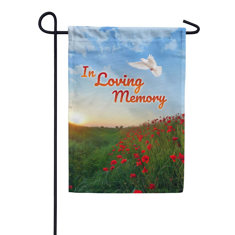 America Forever Garden Flag - In Loving Memory (Dove), Cemetery Memorial Religious Bereavement Double Sided 12.5