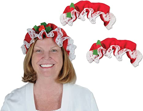 Christmas Accessory Claus White Fabric Wig 3 Ct. Mrs