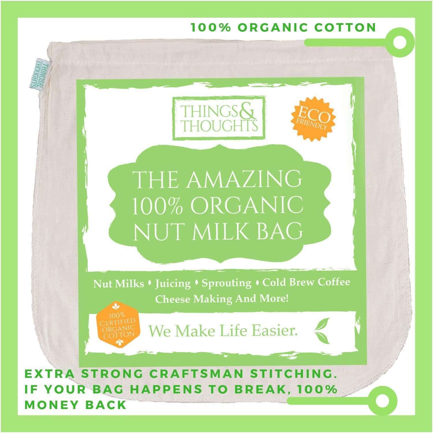 Reusable Nut Almond Milk Strainer Bag Tea Coffee juices Filter Strainer BaK*YNA