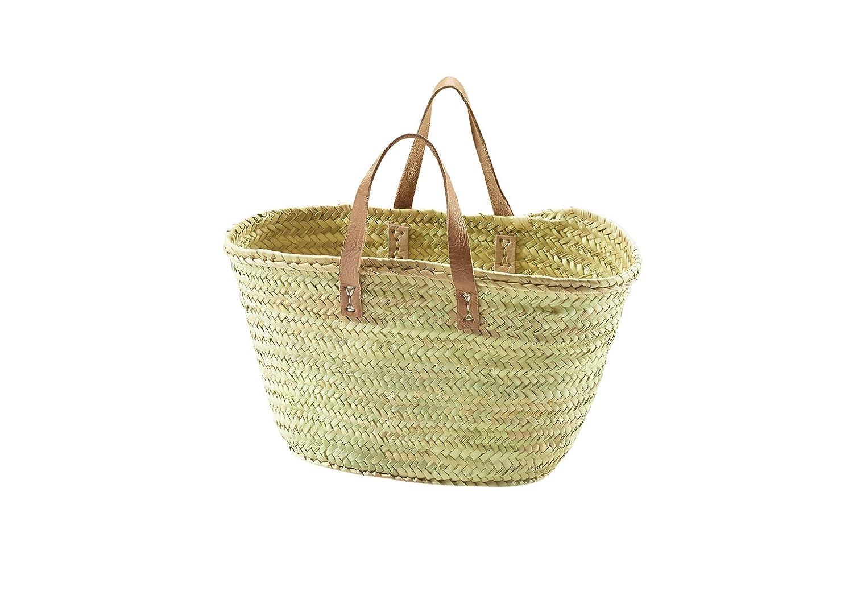 Kobolo Trendige Ibizatasche aus Palmblatt geflochten