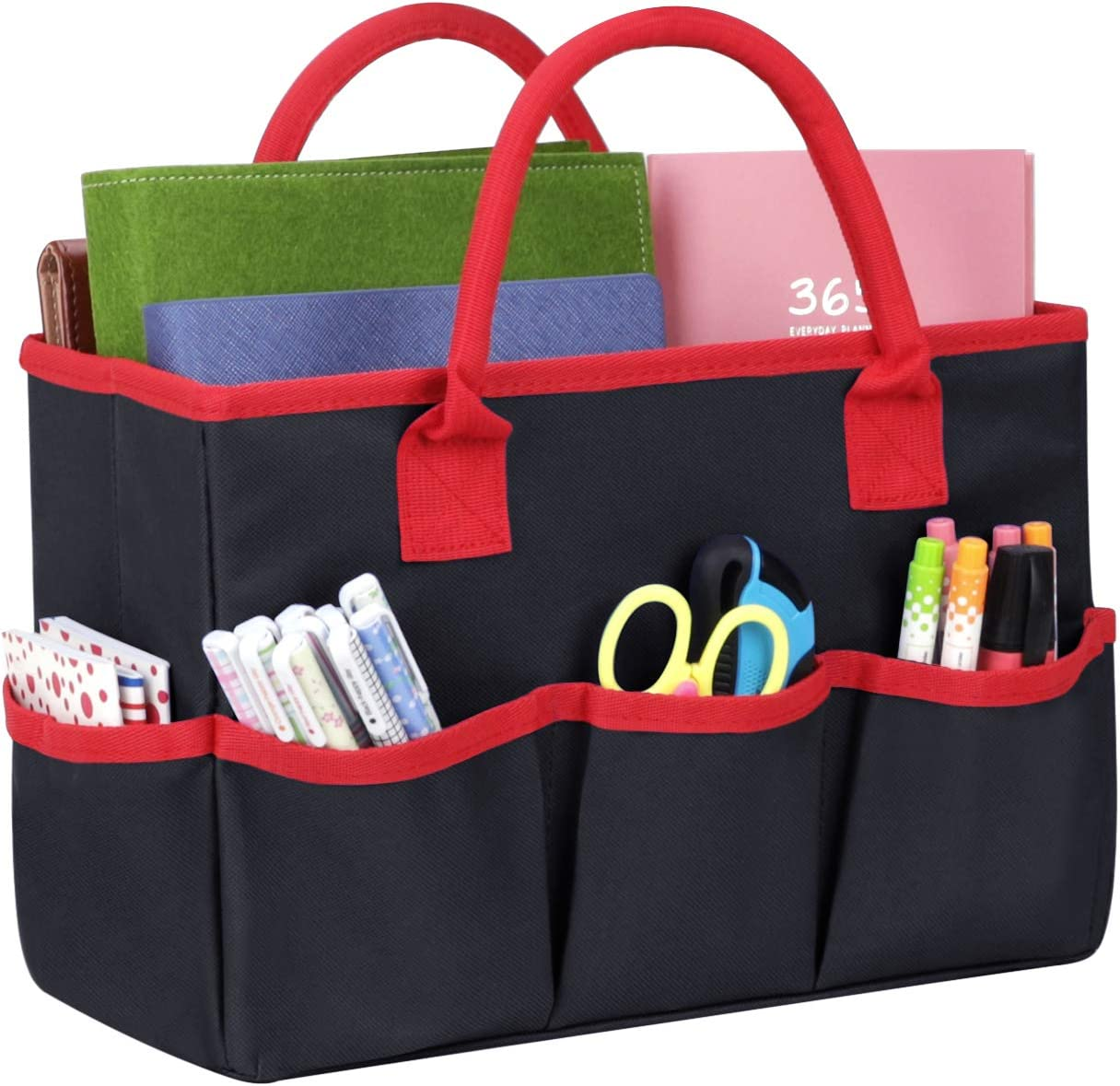 Multi-Purpose Large Desktop Organizer Fundamentals Art File Folder Storage Bag Foldable Gardening Tool Bag Make-up Office Supplies Tote