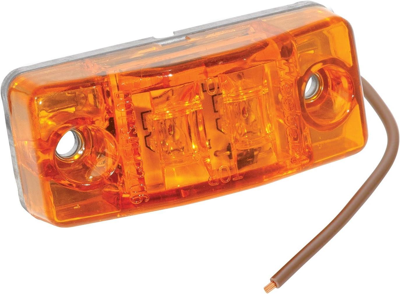 """Red 6 LED 4/"""" RV Truck Side Marker Clearance Light Self Grounding Light"""