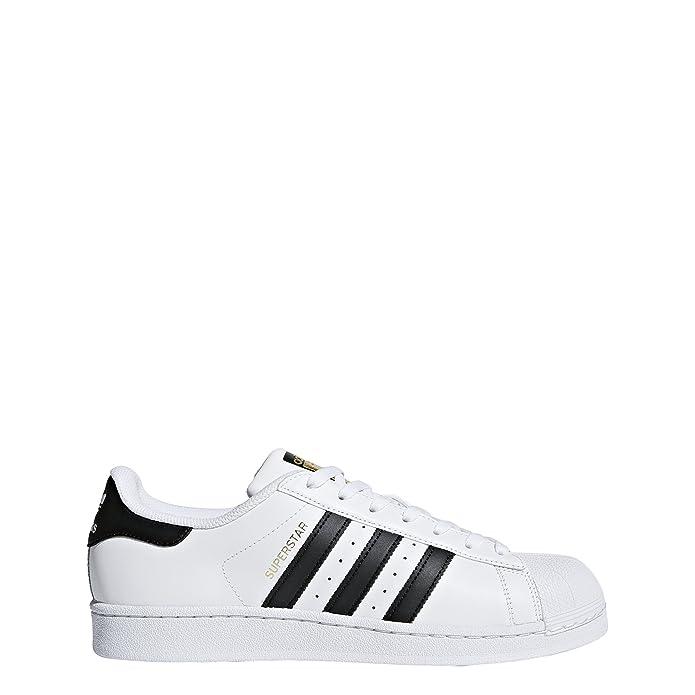 adidas Superstar Schuhe Herren Low-Top Weiß mit schwarzen Streifen
