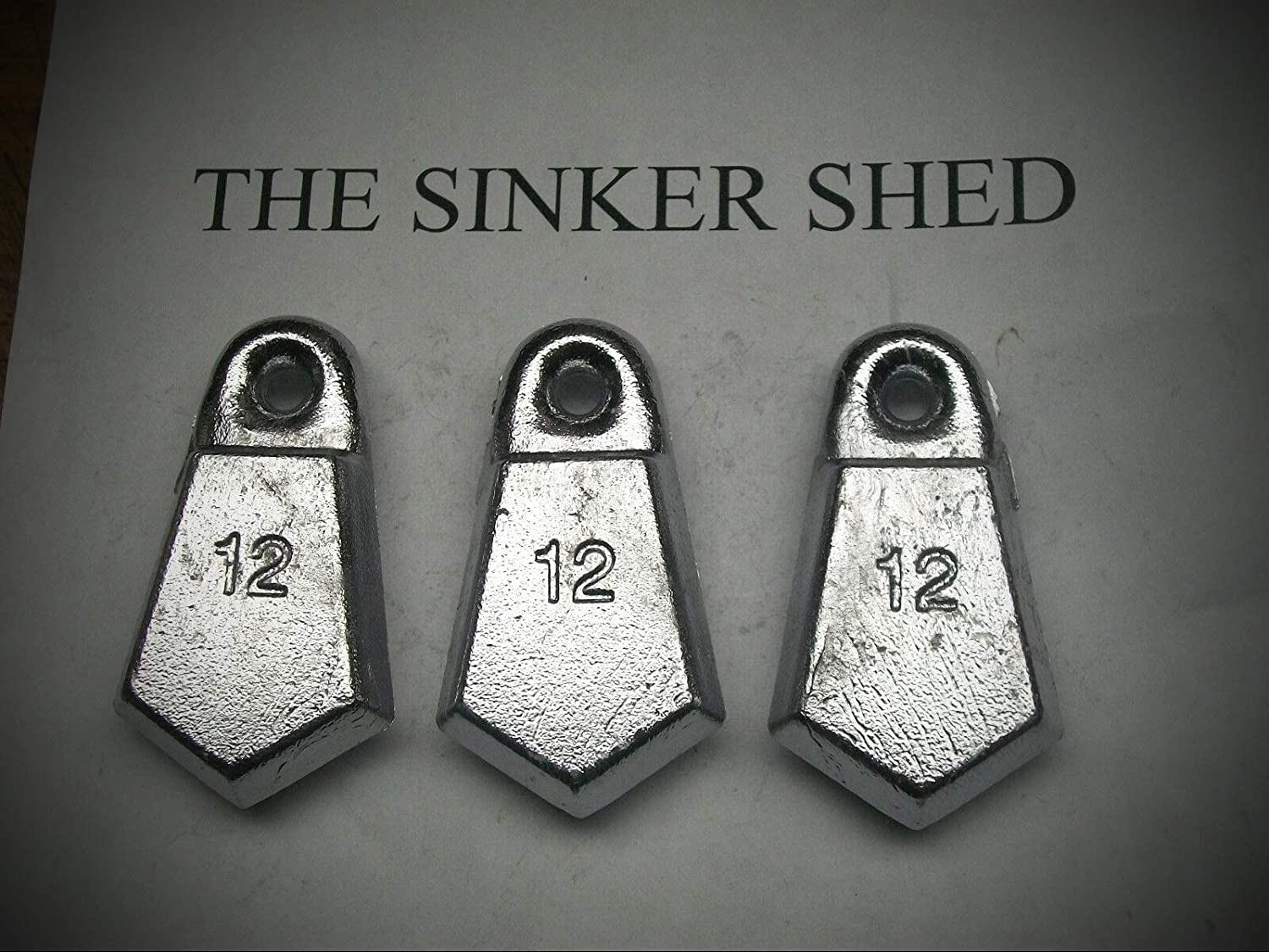 Freshwater or Saltwater Fishing Weights. 10 count of 6 ounce Bank Sinkers