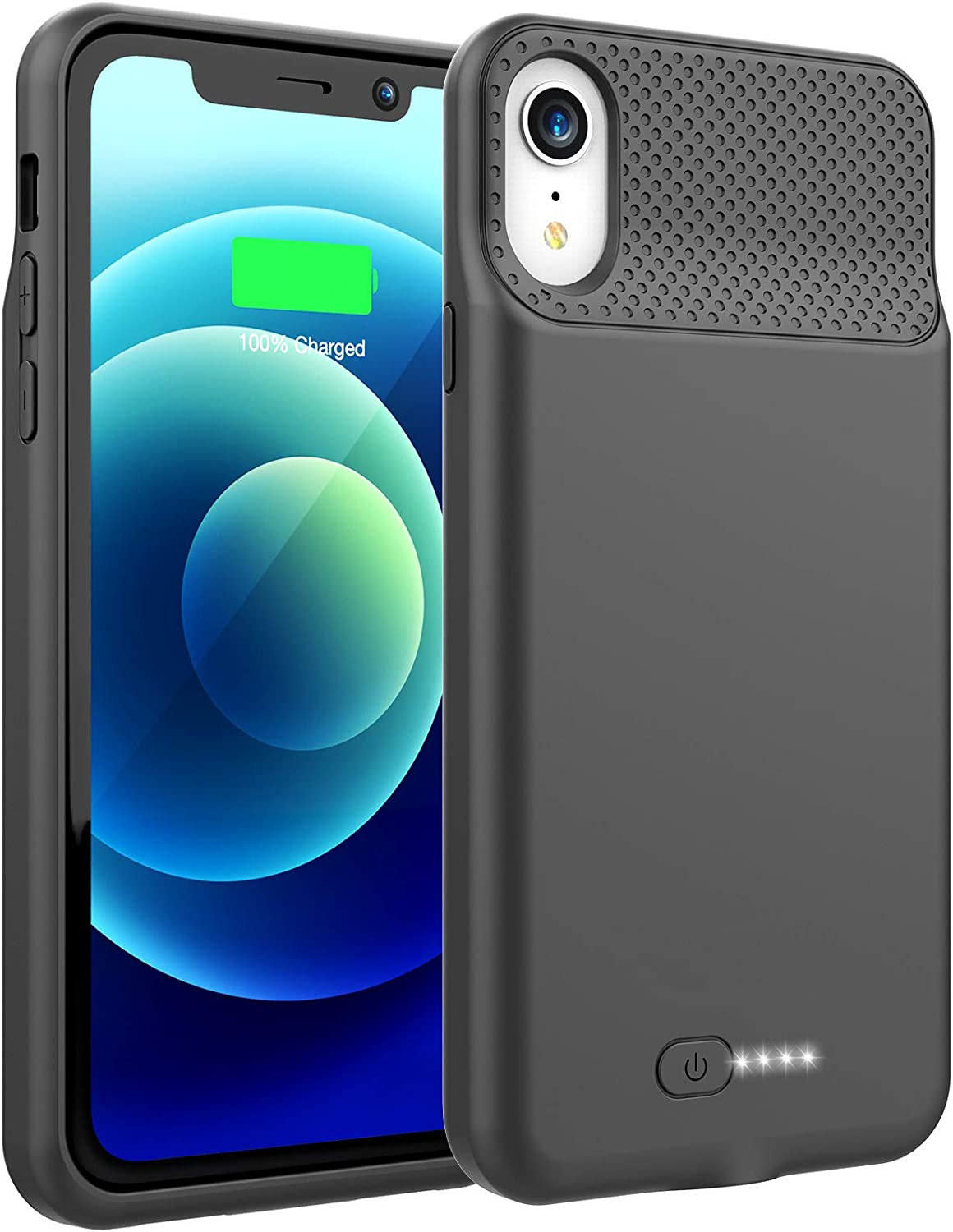 Battery Case for iPhone XR, 6000mAh Portable Charging Case for iPhone XR, Rechargeable Backup External Battery Pack Extended Battery Protective Charger Case, (6.1inch)