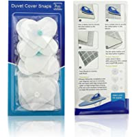 AURIZE 16 Pcs/Lightweight Duvet Cover Snaps Fasteners Comforter Holder Clips Keep The Corner Safe in Place (White)