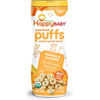 Happy Baby Organic Superpuff Banana and Pumpkin Puffs, 60g