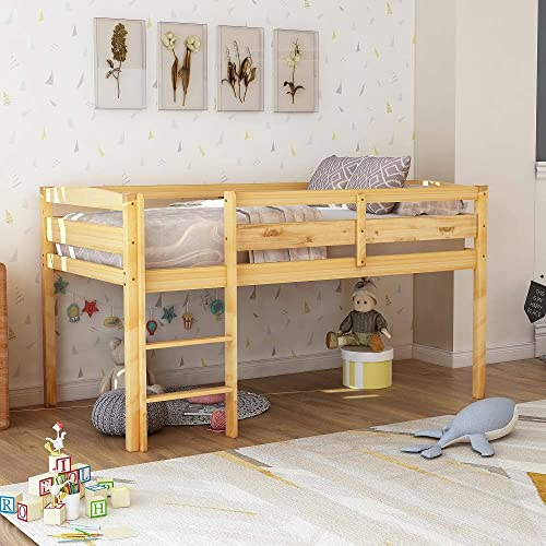 Rhomtree Twin Wood Loft Bed