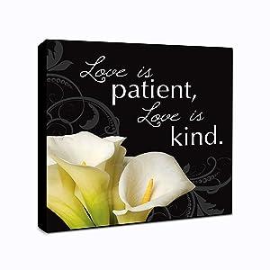 "LACOFFIO Love is Patient Love is Kind Wall Art Décor Plaque 6"" x 6"" Housewarming Gift Idea"