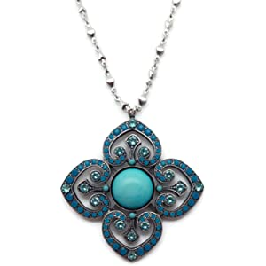 Mariana Antique Silver Plated Guardian Angel Swarovski Crystal Pendant Necklace 5212 333 1