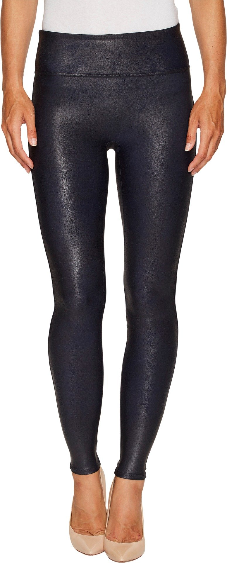 SPANX Women's Faux Leather Leggings, Night Navy, Small
