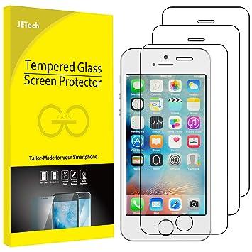 f72c3f8b6ad JETech 0318- Protector de Pantalla para iPhone SE iPhone 5s iPhone 5,  Vidrio Templado, 3 Unidades: Amazon.es: Electrónica