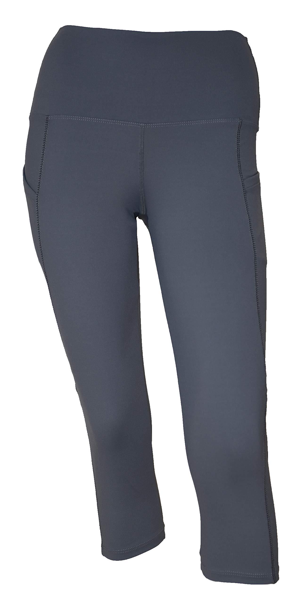 Private Island Women Swim Pockets Pants for UV Rashguard (Large, Grey) by Private Island