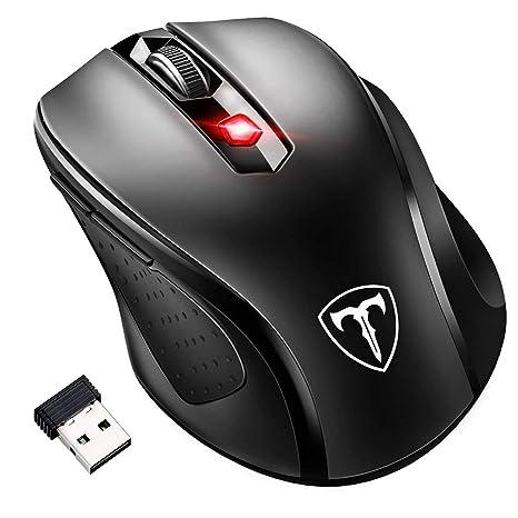 Inalámbrico portátil ratón, omorc 2400dpi ratón de Ordenador Mini PC Ratón con 2.4 G,