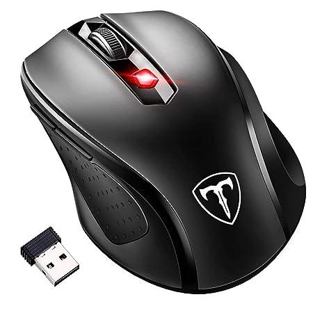 [Updated Version] VICTSING Mini Maus kabellos Wireless Mouse, 2.4G Funkmaus, 2400 DPI 6 Tasten Optische Mäuse mit USB Nano Em