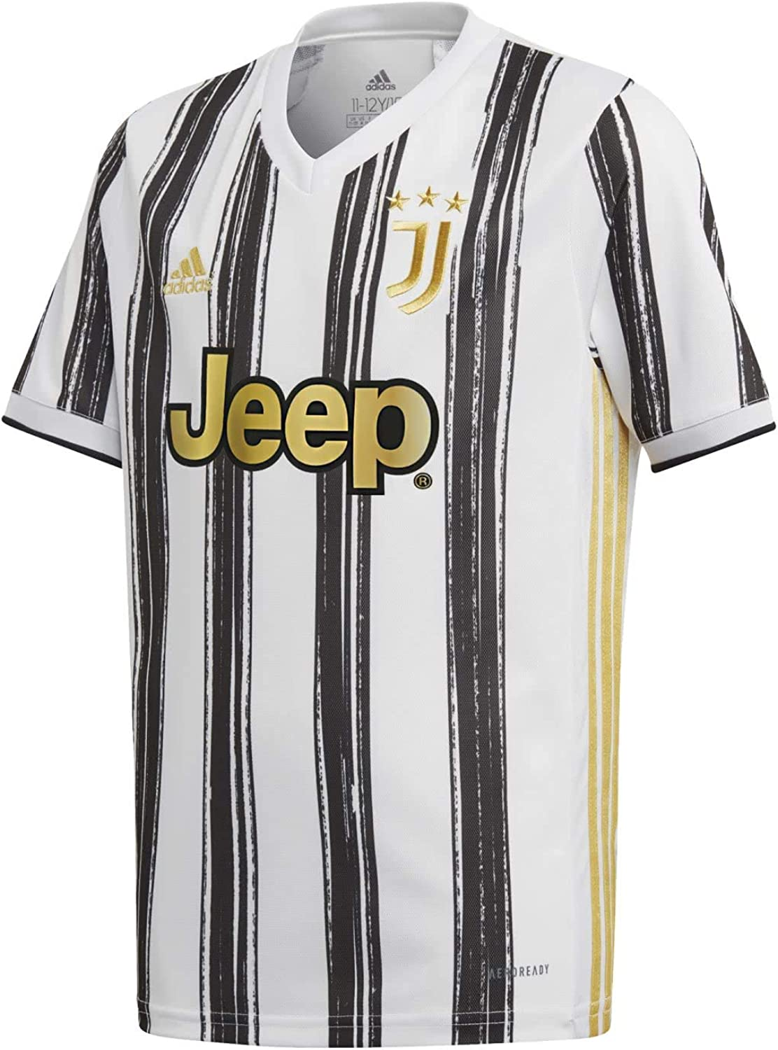 adidas 2020-2021 Juventus Home Football Soccer T-Shirt Jersey (Kids)