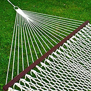 "Best Choice Products Hammock 59"" Cotton Double Wide Solid Wood Spreader Outdoor Patio Yard Hammock from Best Choice Products"