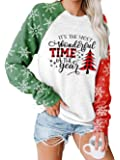 Star Print Colorblock Sweatshirt Womens Long Sleeve American Flag 4th of July Pullvoer Blouse Sweatshirt