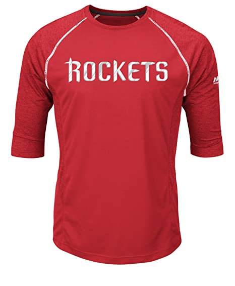 check out d509a 83a8d Image Unavailable. Image not available for. Color  VF LSG NBA Houston  Rockets Men s Excite A 3 4 Sleeve Crew-Neck Tee