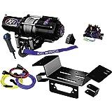 KFI Combo Kit - U45-R2 4500lbs Stealth Winch & Mount Bracket - 2014-2018 Honda Pioneer SXS 700 & SXS 700-4
