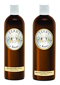 Joan's a Keeper Honey Body Cleanser & Body Lotion Pack of 2 - Warm Honey - All Natural, Made with Real Honey