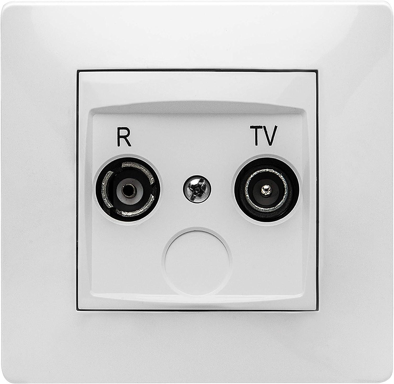 Famatel 6516505063 Toma Television R-Tv Blanco 9135 ...
