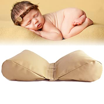 Sunmig newborn baby photography butterfly posing pillow basket filler photo prop beige