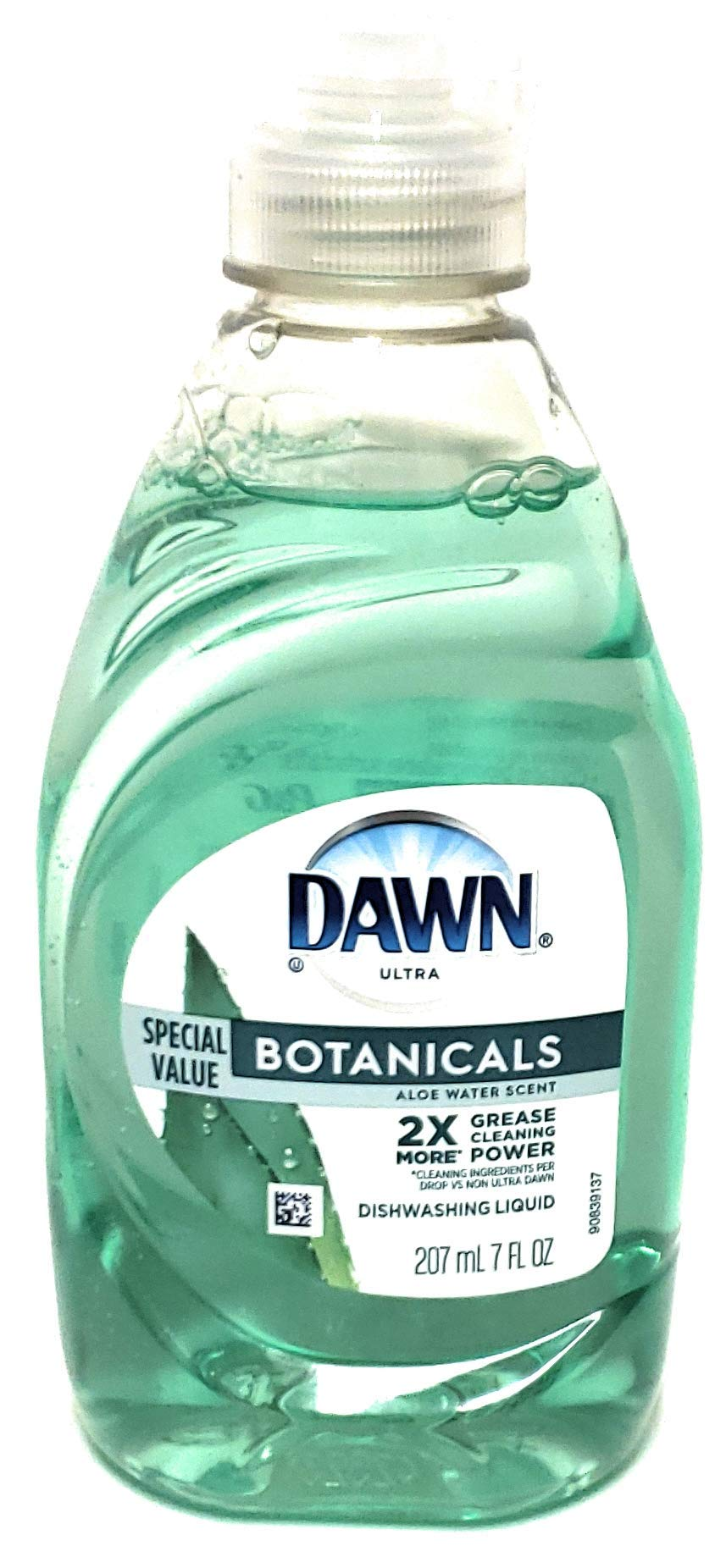 Dawn Ultra Botanicals – Aloe Water Scent 270 ml / 7 fl oz – 2X More Grease Cleaning Power – Phosphate Free