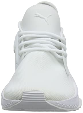 Amazon.com | PUMA Tsugi Cage Low-Top Sneakers, White White, 5 UK | Fashion Sneakers