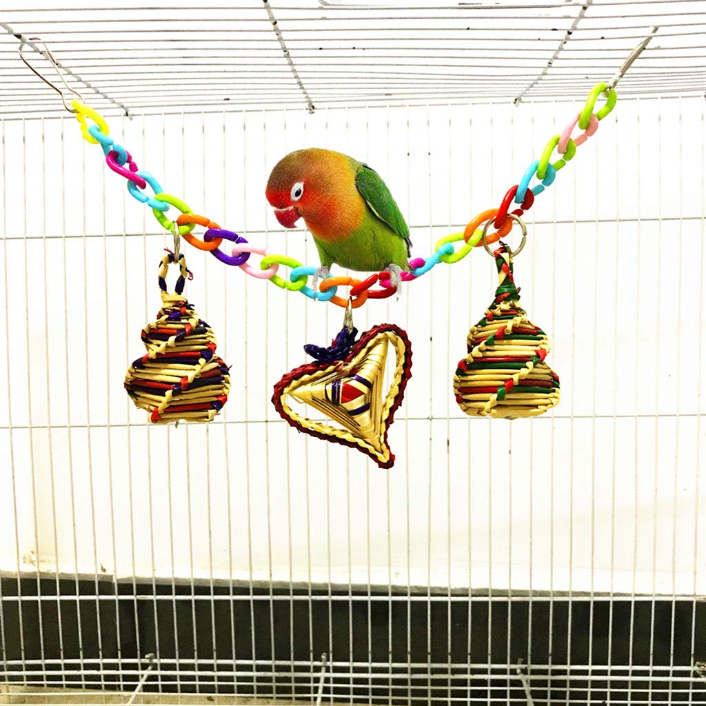 YA-Uzeun - Jaula Colgante para pájaros con diseño de pájaros ...