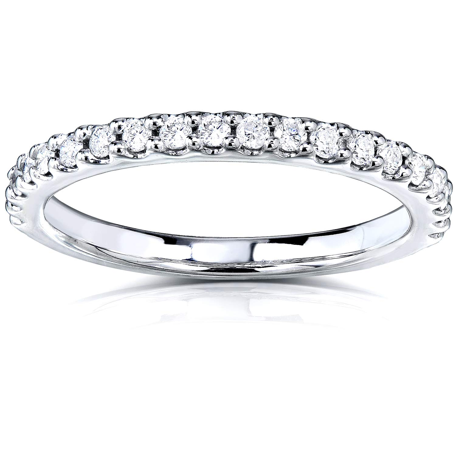 Lab Grown Diamond Semi-Eternity Band 1/4 CTW 14k White Gold (DEF/VS), 7
