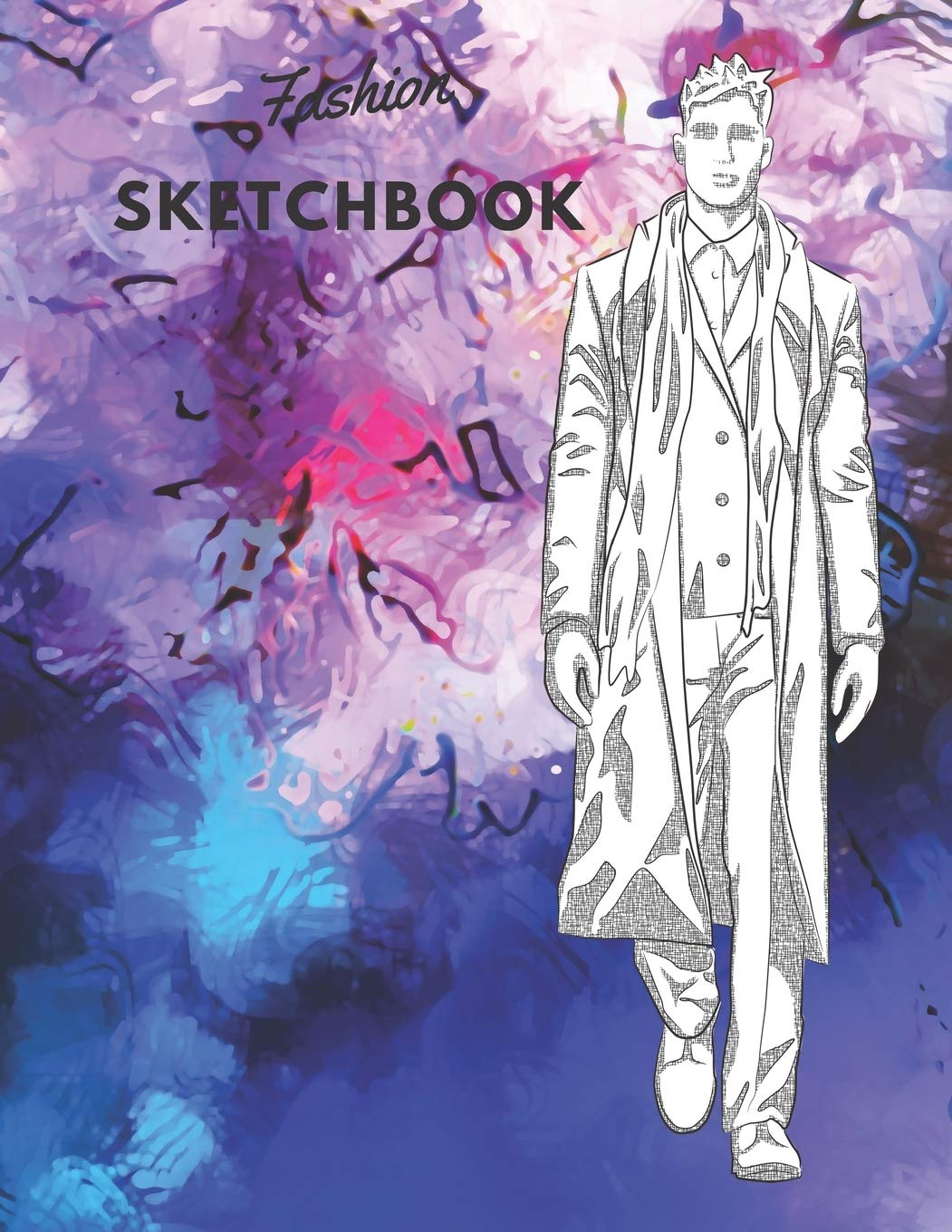 Fashion Sketchbook 100 Large Male Figure Templates With 10 Different Poses For Easily Sketching Your Fashion Design Styles Coloring Carolyn 9781699846773 Amazon Com Books