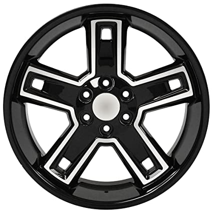 amazon blk wheel 22x9 5 deep dsh style w mchd face for 99 17 Aftermarket Steering Wheels for Chevy Trucks image unavailable
