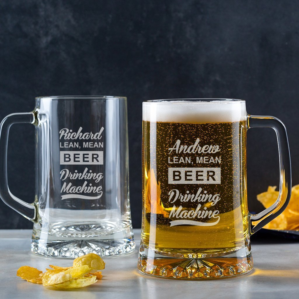 Personalized Beer Pint Glass/Personalized Beer Mug/Engraved Beer Glass/Funny Birthday Gifts For Men/Personalized 18th Or 21st Birthday Gifts For Men