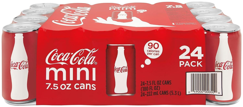 Coca-Cola Mini-Cans, 7.5 fl oz (Pack of 24)