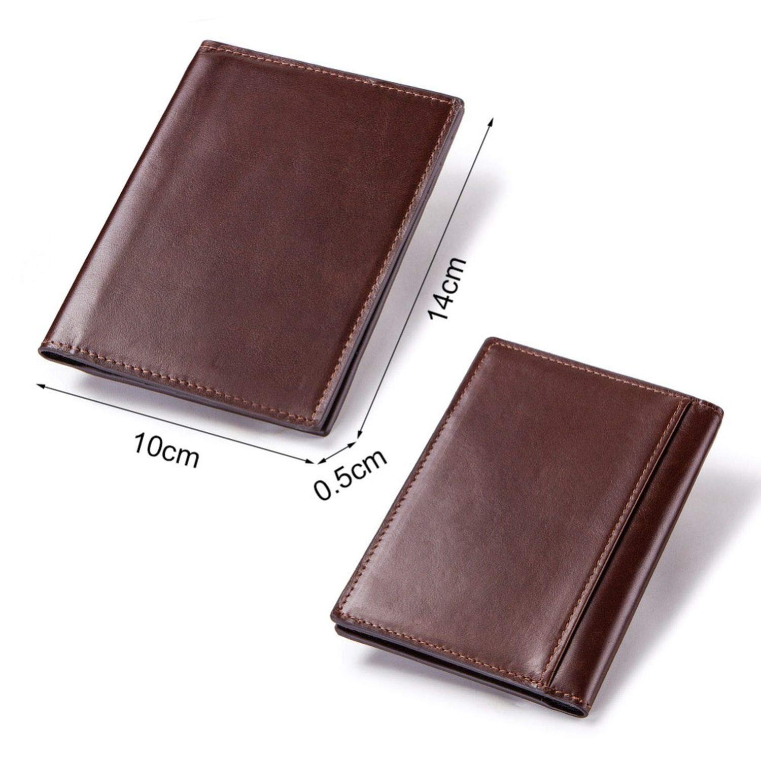 Genuine Leather Passport Cover Id Business Card Holder Travel Credit Wallet Purse Case Rfid Driving License,Coffee Box