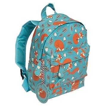 24 x 24 cm azul mochila infantil con diseño de zorro: Amazon.es: Juguetes y juegos