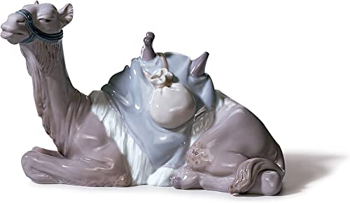 LLADR Camel Nativity Figurine. Porcelain Nativity Camel Figure.