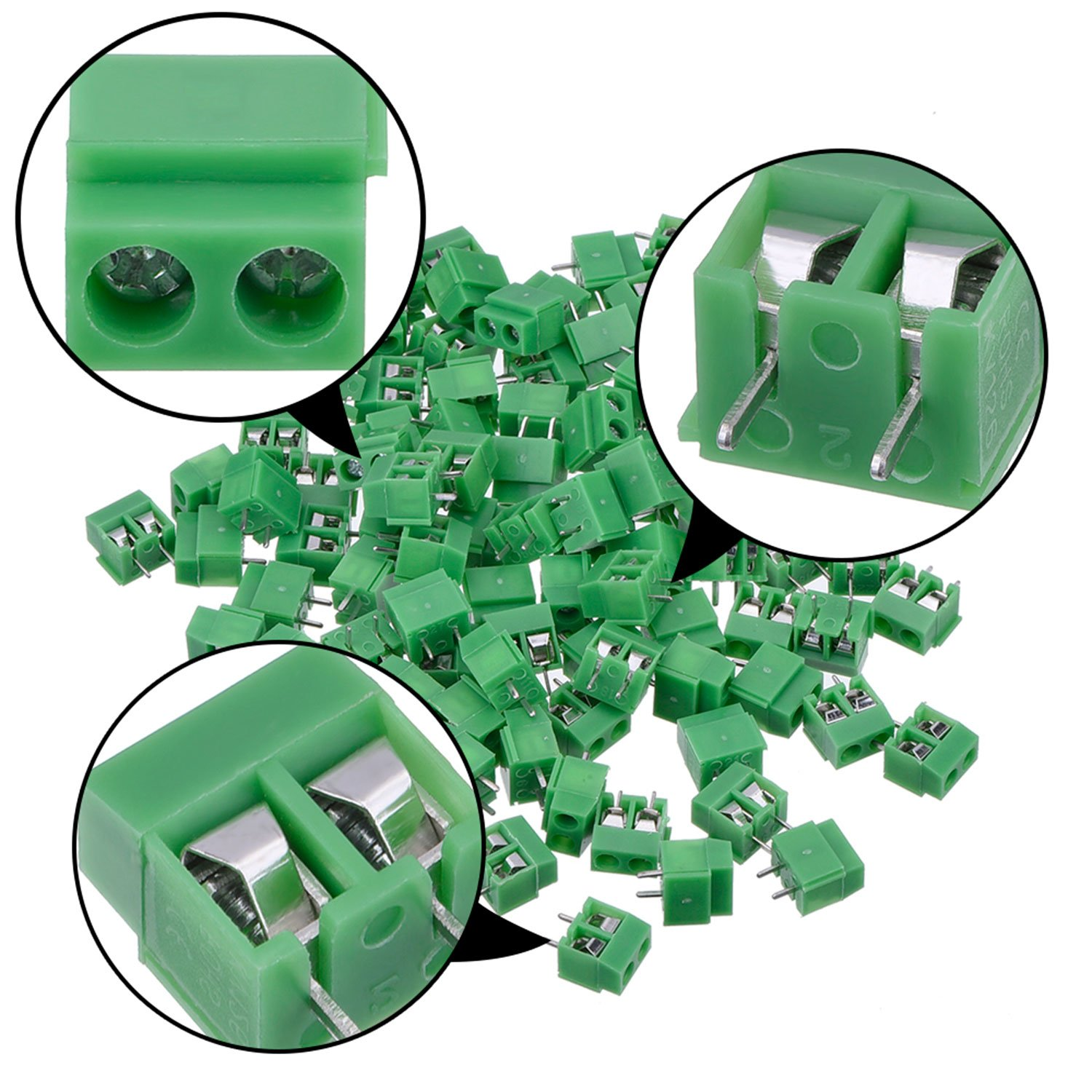 Kangwei Pcb Mount Screw Terminal Block Connector 100 50pcs 2pins Printed Circuit Board Terminals Us Pack 2 Pole 5 Mm Pitch 10a 300v Toys Games