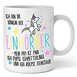 Königin der Einhörner Tasse - Ich bin die Königin der Einhörner | Einhorn Tasse von Shirtinator ®