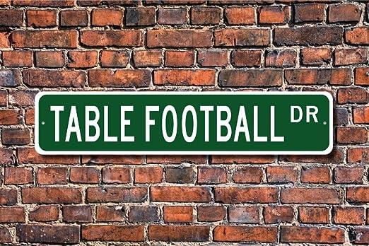 CELYCASY - Cartel de futbolín para mesa de fútbol, diseño de futbolista: Amazon.es: Hogar