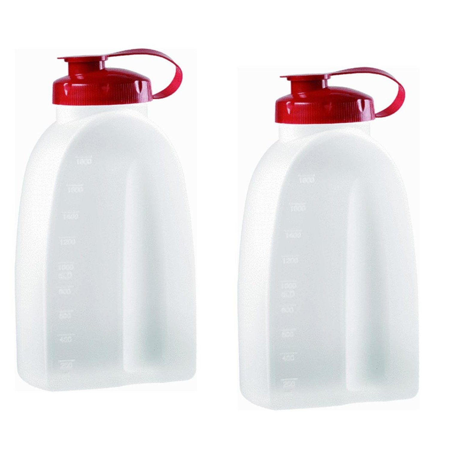 Rubbermaid 3092 725410731145 Servin Saver White Bottle 2 Qt. (Pack of 2), 2 Pack, Clear