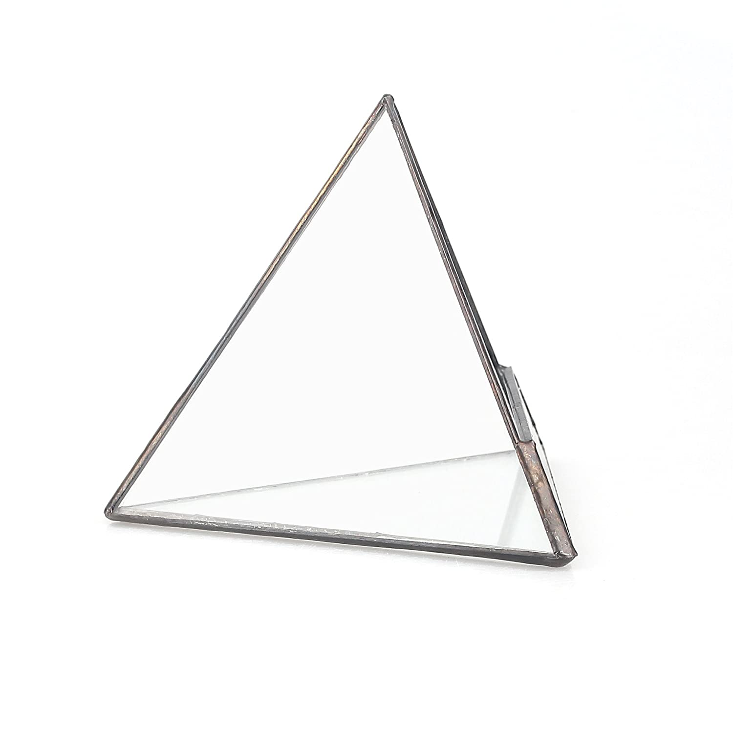 Amazon Com 4 7 Black Pyramid Clear Glass Geometric Terrarium