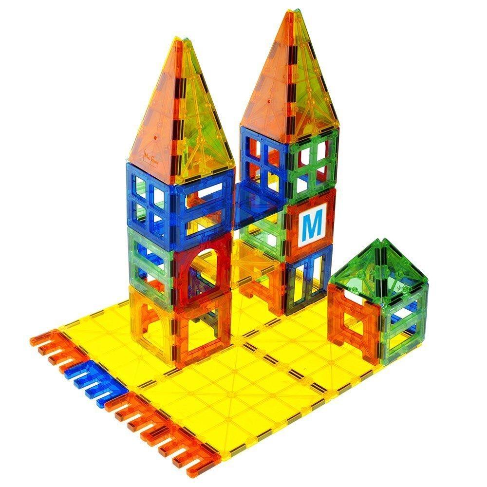 Mag-Genius Award Winning building Tiles Clear Colours 3D Brain Building Blocks 32 Pieces