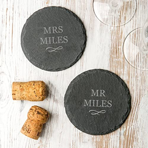 Personalised Slate Coasters For Couplesengraved Slate Coasters