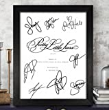 Pretty Little Liars Cast Signed Autographed Script Reprint RP PP - Troian Bellisario, Ashley Benson, Lucy Hale, Shay Mitchell, Sasha Pieterse & Other