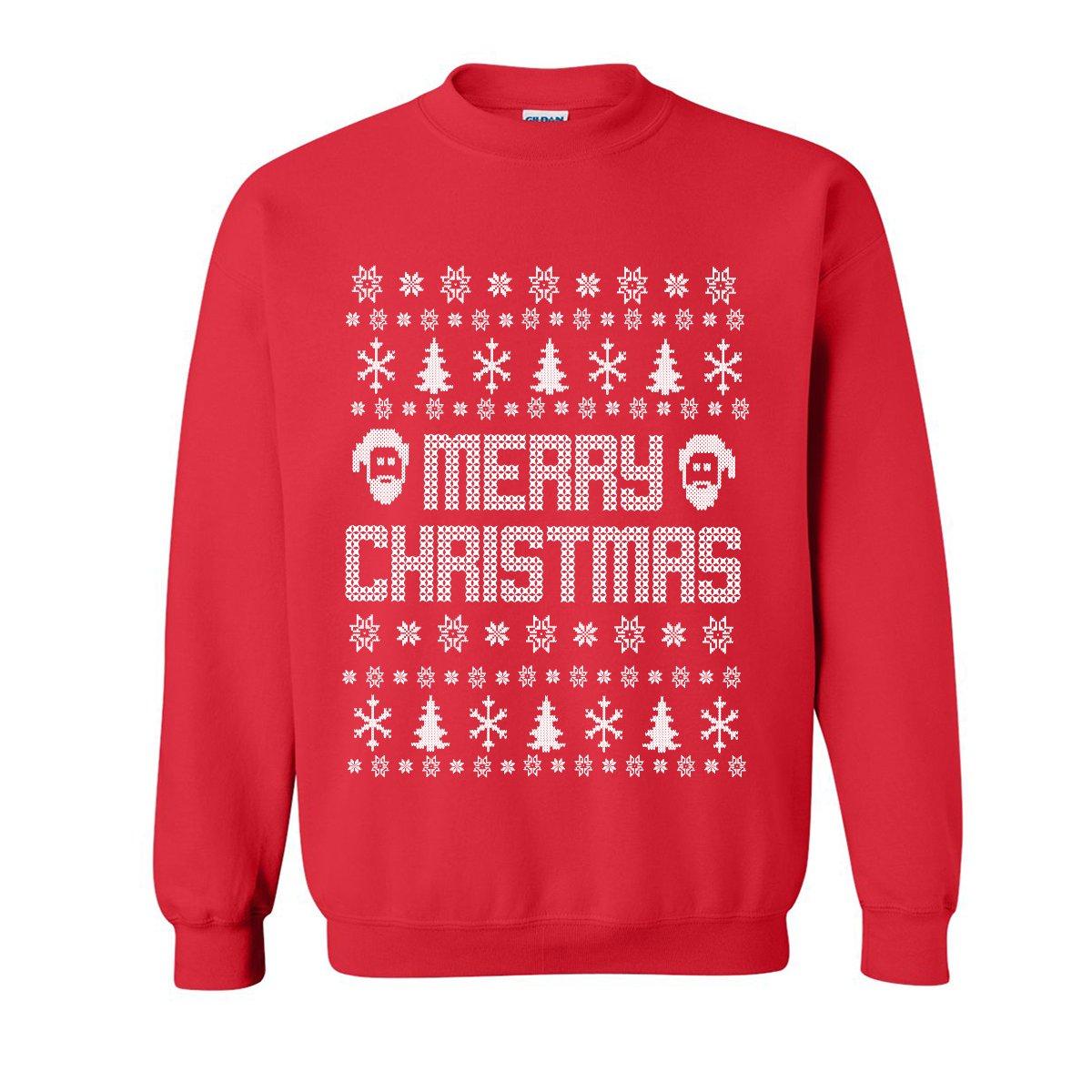ZeroGravitee Merry Christmas Ugly Holiday Sweatshirt Crewneck Sweatshirt PA-2380-CR