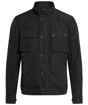 a20b9864b781 Belstaff Men s Waxed Cotton Racemaster Jacket Black  Amazon.co.uk ...